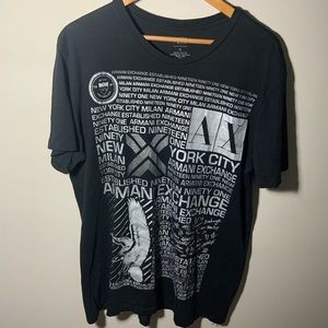 Armani Exchange Milan New York City Tee size XL